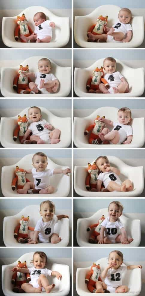 8 Adorable Ideas For Monthly Baby Photos