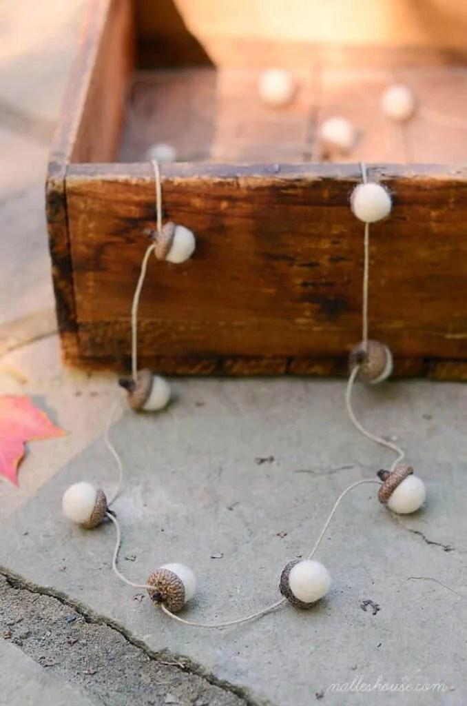 felted acorn garland 2-