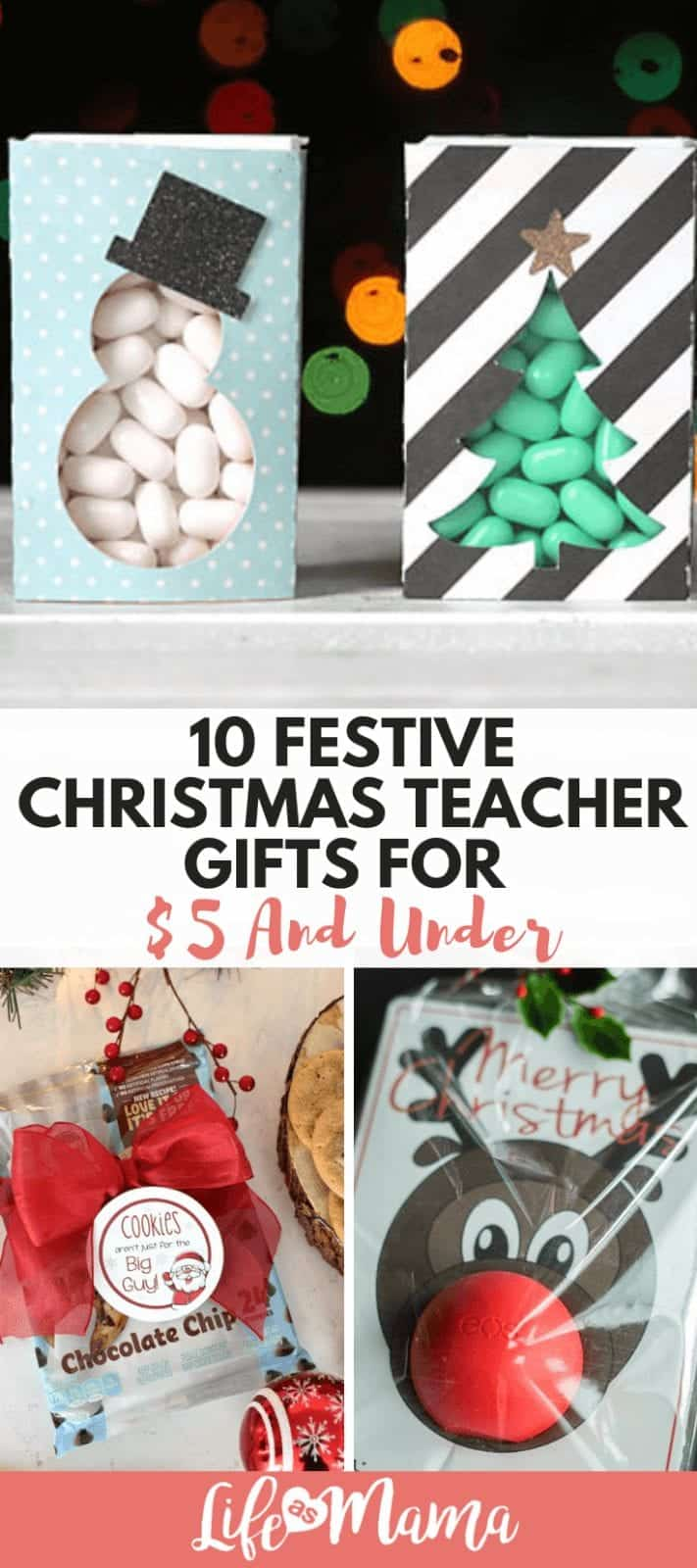 10 Festive Christmas Teacher Gifts For $5 And Under