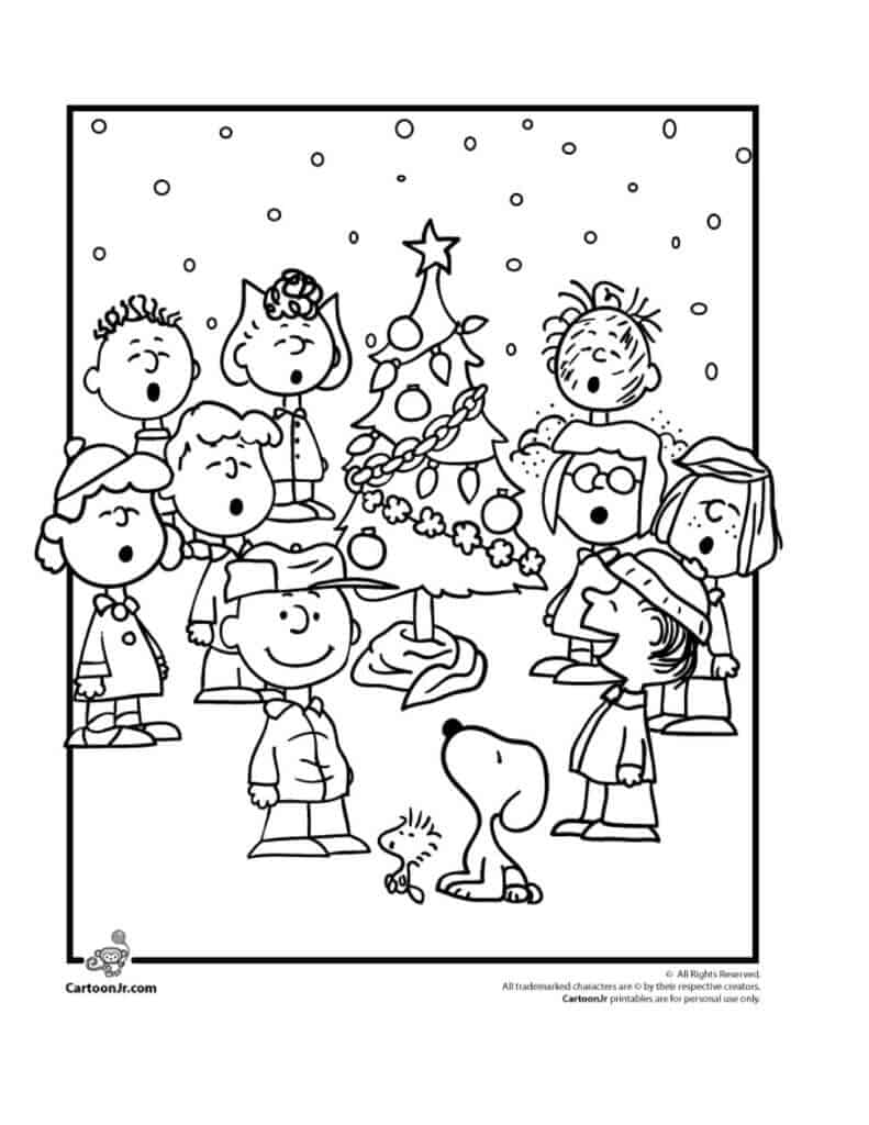 Charlie Brown Christmas Coloring Pages with the Peanuts Gang | Cartoon Jr.