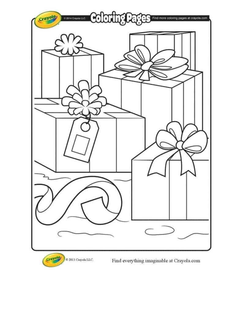 Christmas Packages Coloring Page | crayola.com-page-001