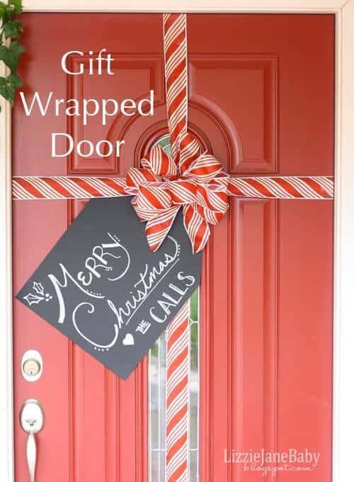 Gift+Wrapped+Door