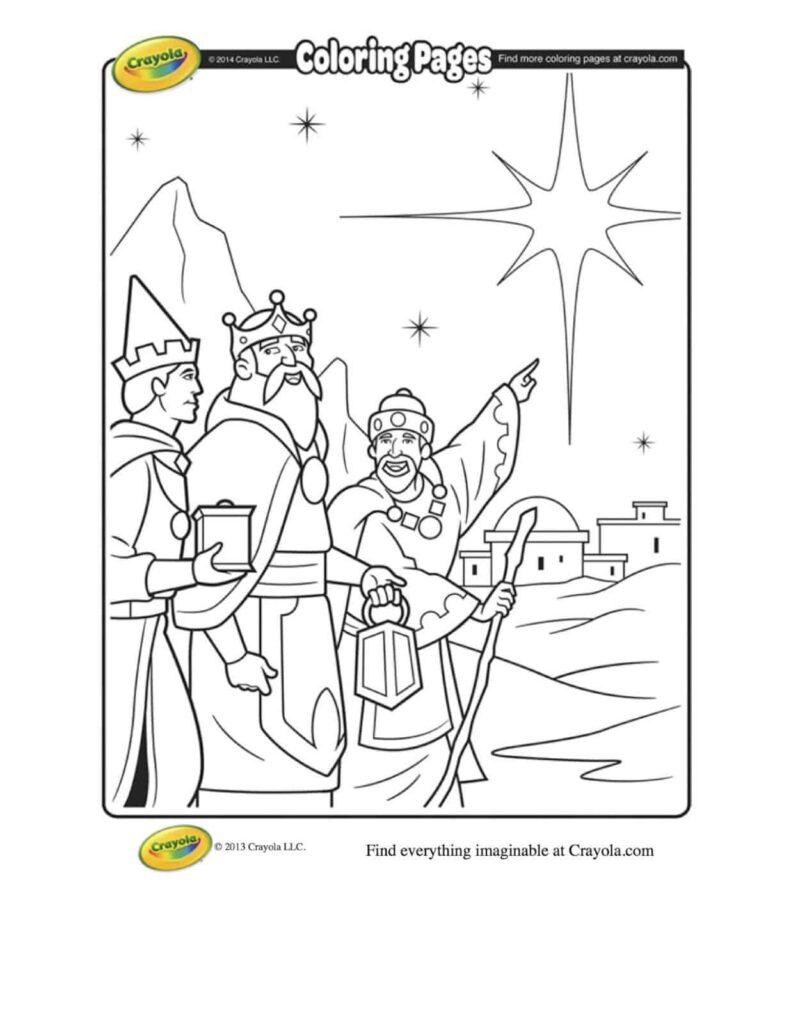 Three Kings Coloring Page | crayola.com