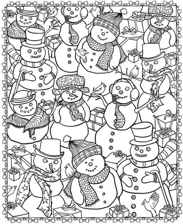 - 8 Christmas Coloring Pages For Adults