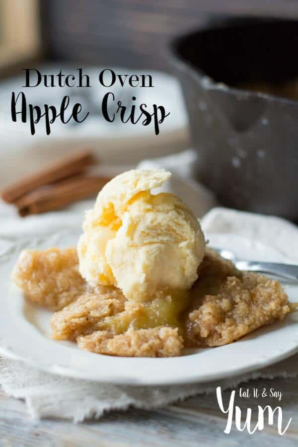 Dutch-Oven-Apple-Crisp-recipe-served-with-ice-cream-or-whipped-cream-great-Thanksgiving-dessert