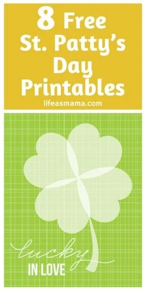 st. paddy's day printables