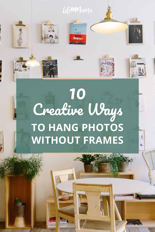 hang photos without frames