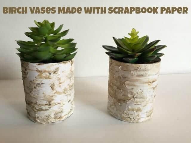 BirchVasesScrapbookPaper
