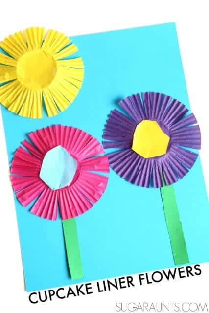 spring-craft-flowers-cupcake-liners