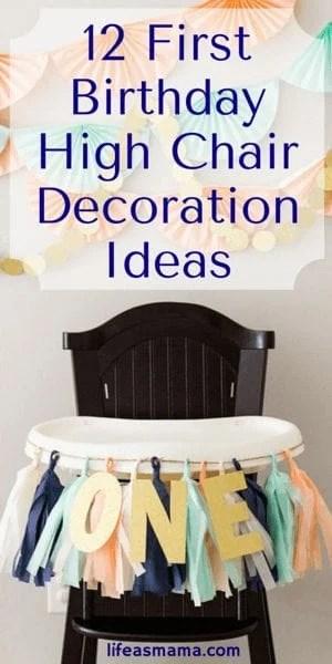 First Birthday High Chair Decoration Ideas