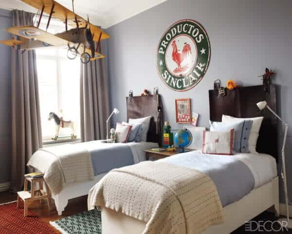 cozy-bedroom-for-two-kids-with-vintage-decor-elements