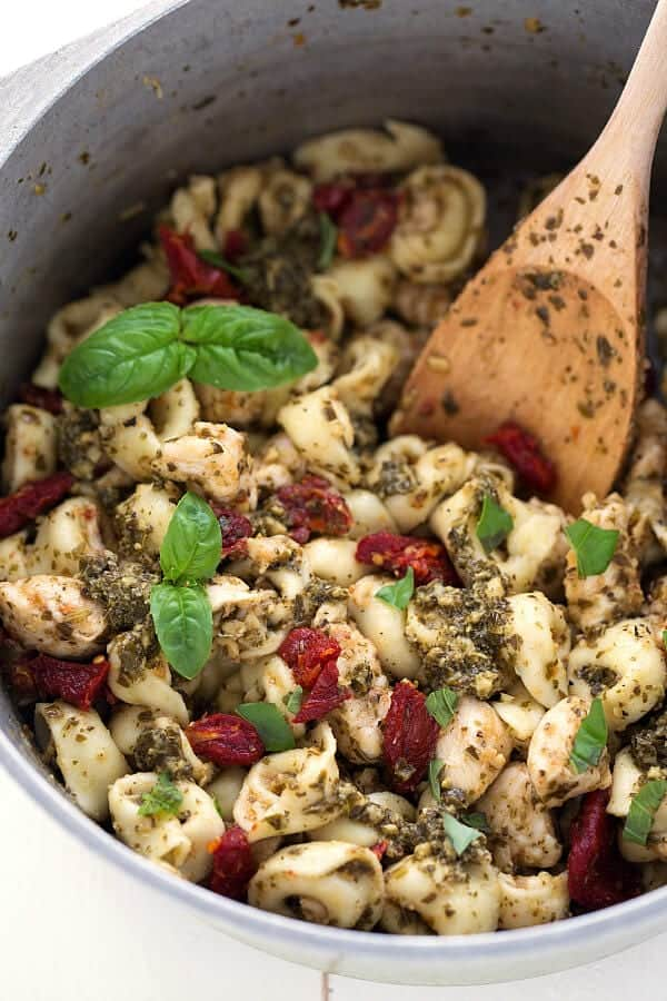 ONE-pot-30-minute-Pesto-Pasta-Chicken, no-cook dinners