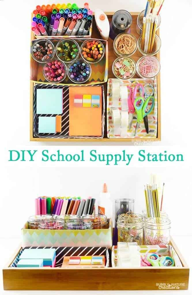 DIY-School-Supply-Station-Easy-way-to-organize-all-the-school-supplies-