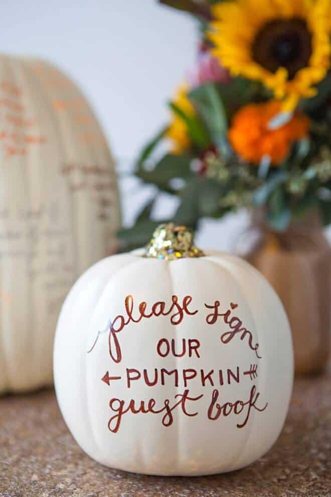 SomethingTurquoise-DIY-Pumpkin-Guest-Book-0010