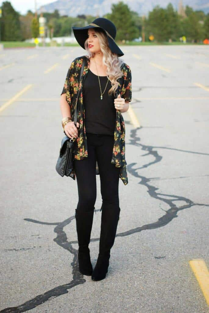 All Black, Fall Outfit, Utah Fashion Blogger, Fashion Blogger, Forever 21, Styles For Less 7
