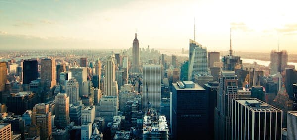 Skyline-Gebäude-New-York-Wolkenkratzer