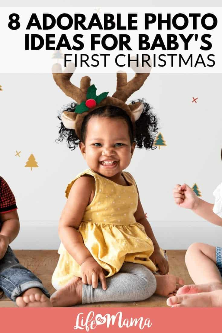 8 Adorable Photo Ideas For Baby's First Christmas
