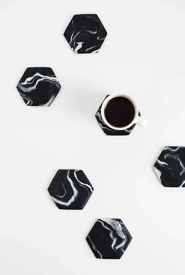 black-marble-hexagon-coasters-diy2
