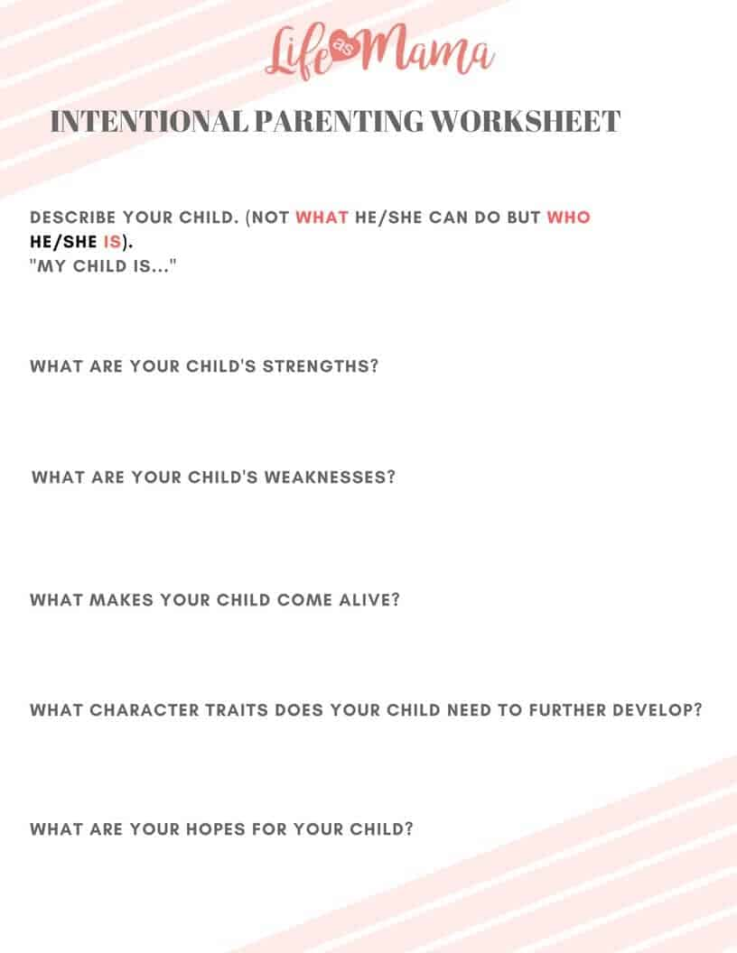 Guide To Intentional Parenting
