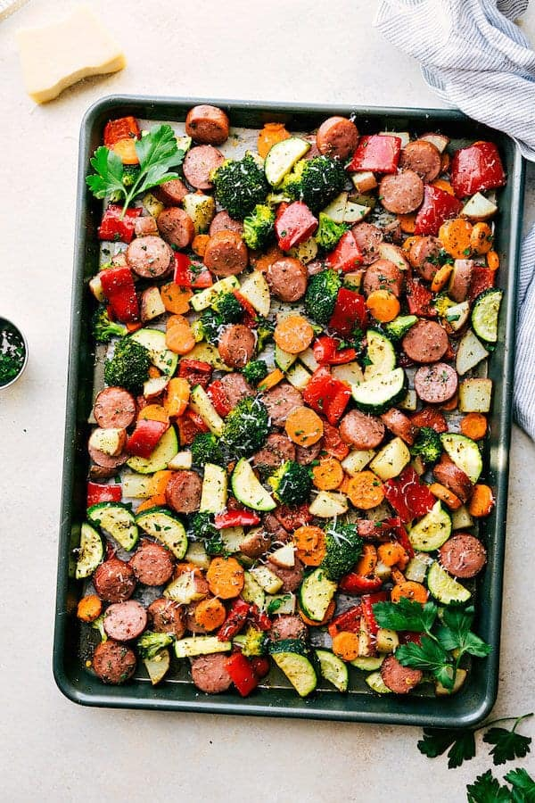 Sheet Pan Italian Sausage and Veggies