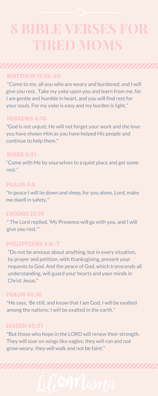 bible verses for tired moms