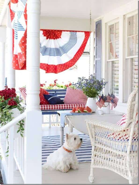4th of july patriotic front porch
