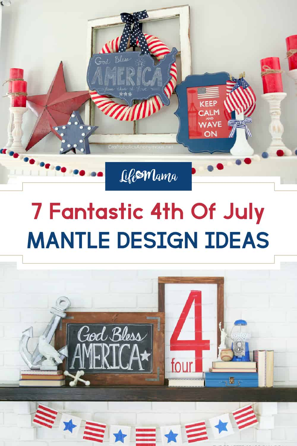 7 Festive 4th Of July Mantle Designs