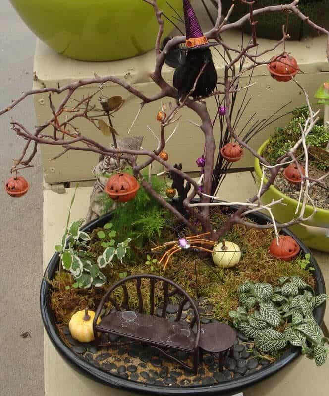 halloween fairy gardens