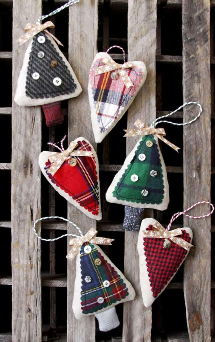 diy rustic ornaments