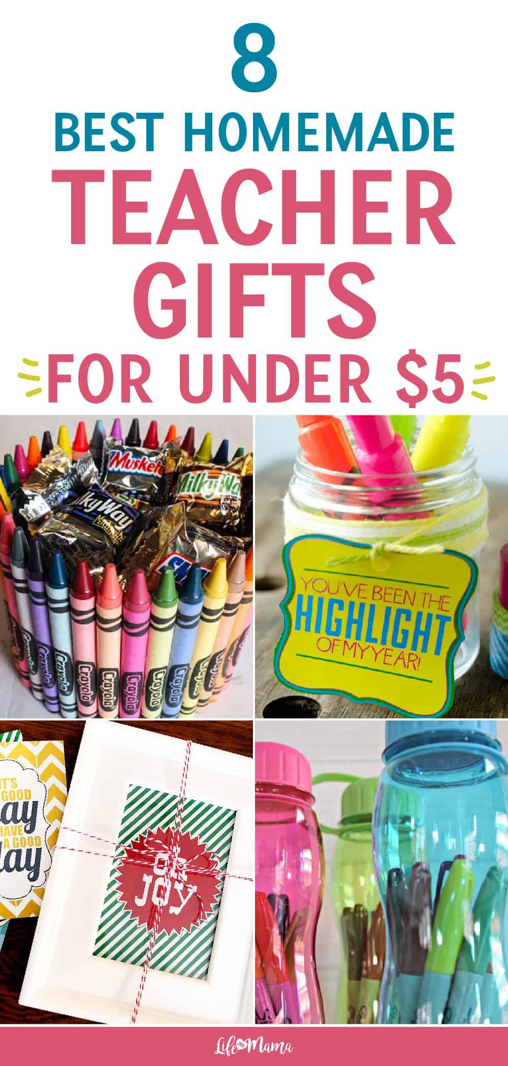 8 Best Homemade Teacher Gifts For Under $5