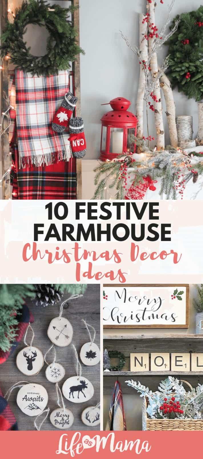 10 Festive Farmhouse Christmas Decor Ideas