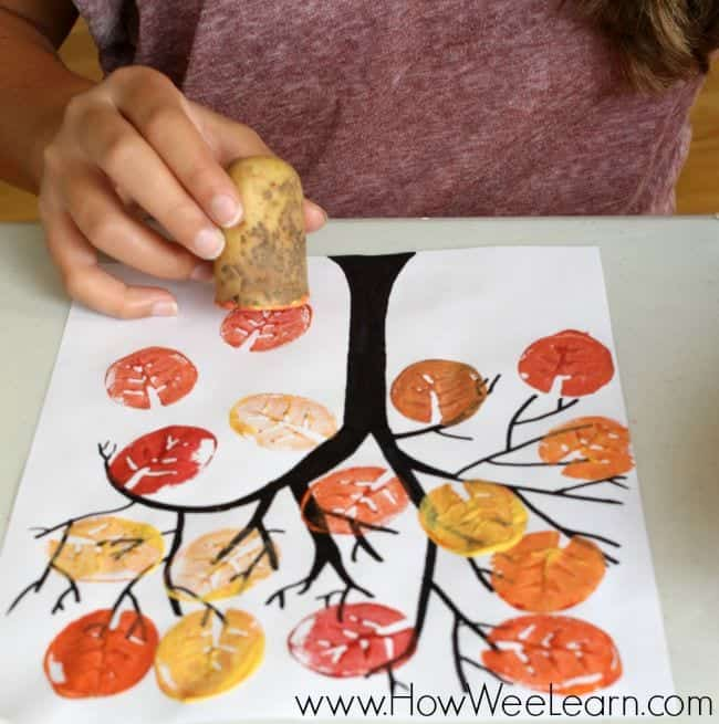 inexpensive fall kids crafts