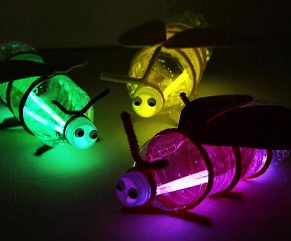 creative plastic firefly craft