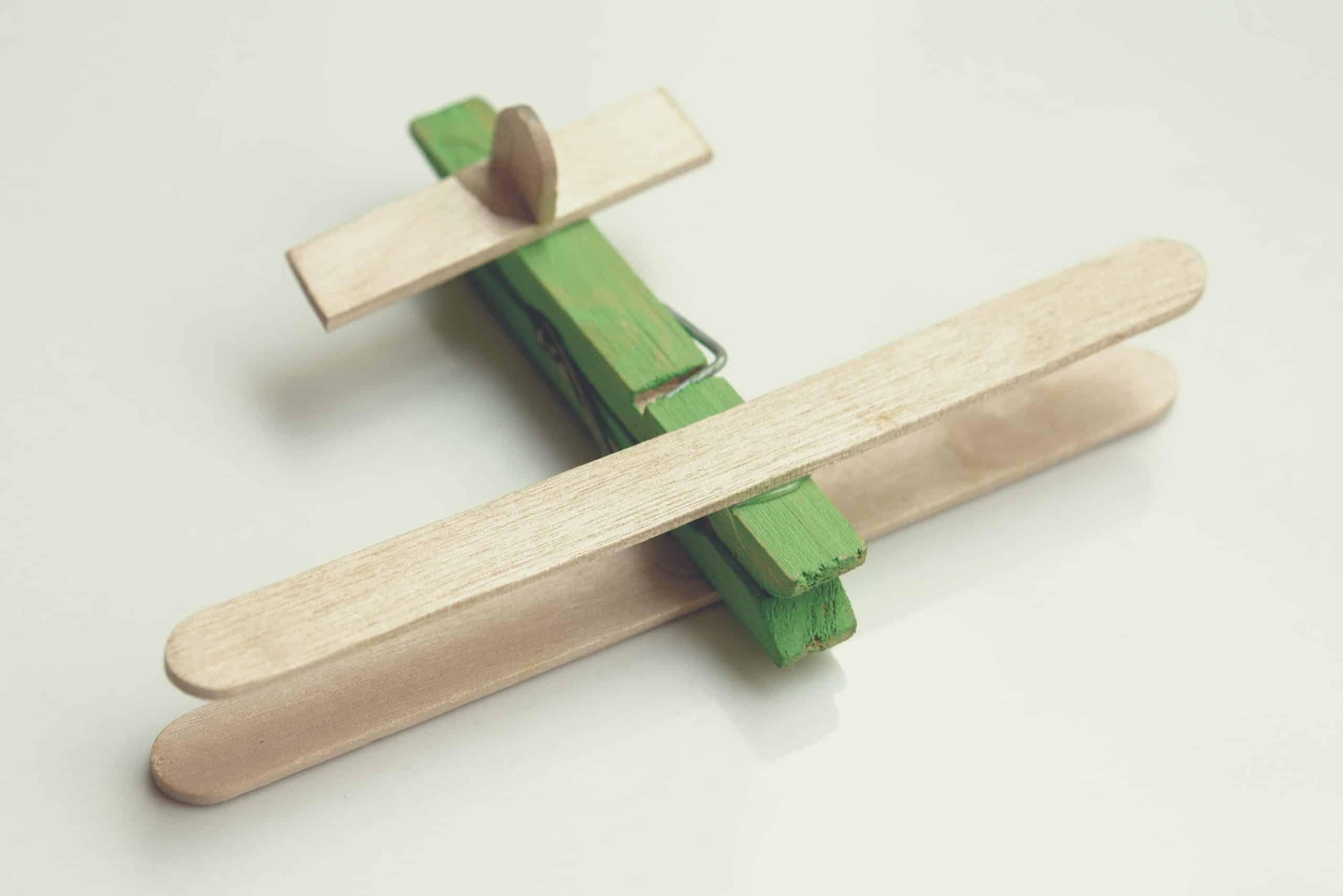 popsicle stick biplane
