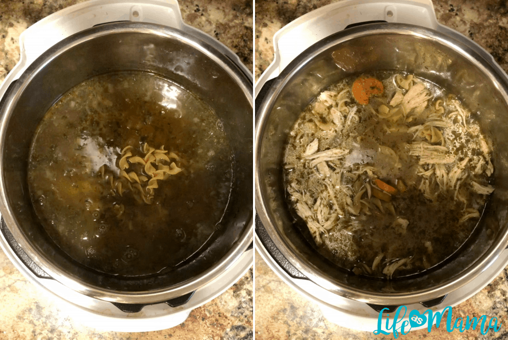 Instant pot chicken noodle
