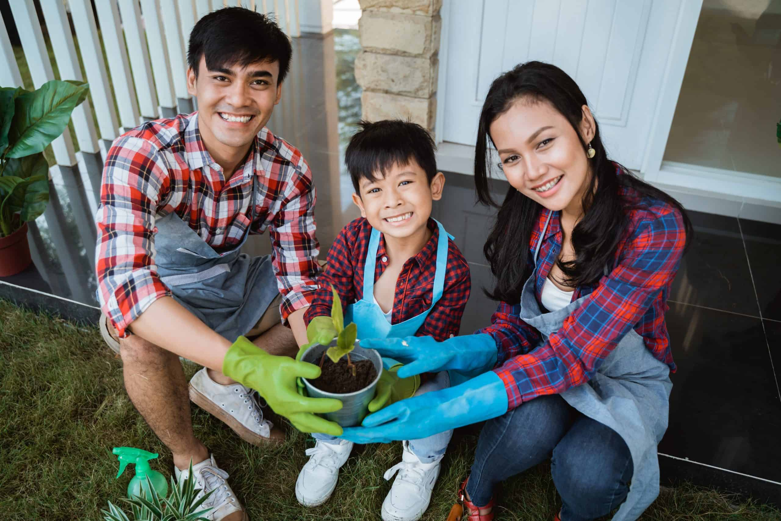 family health by gardening
