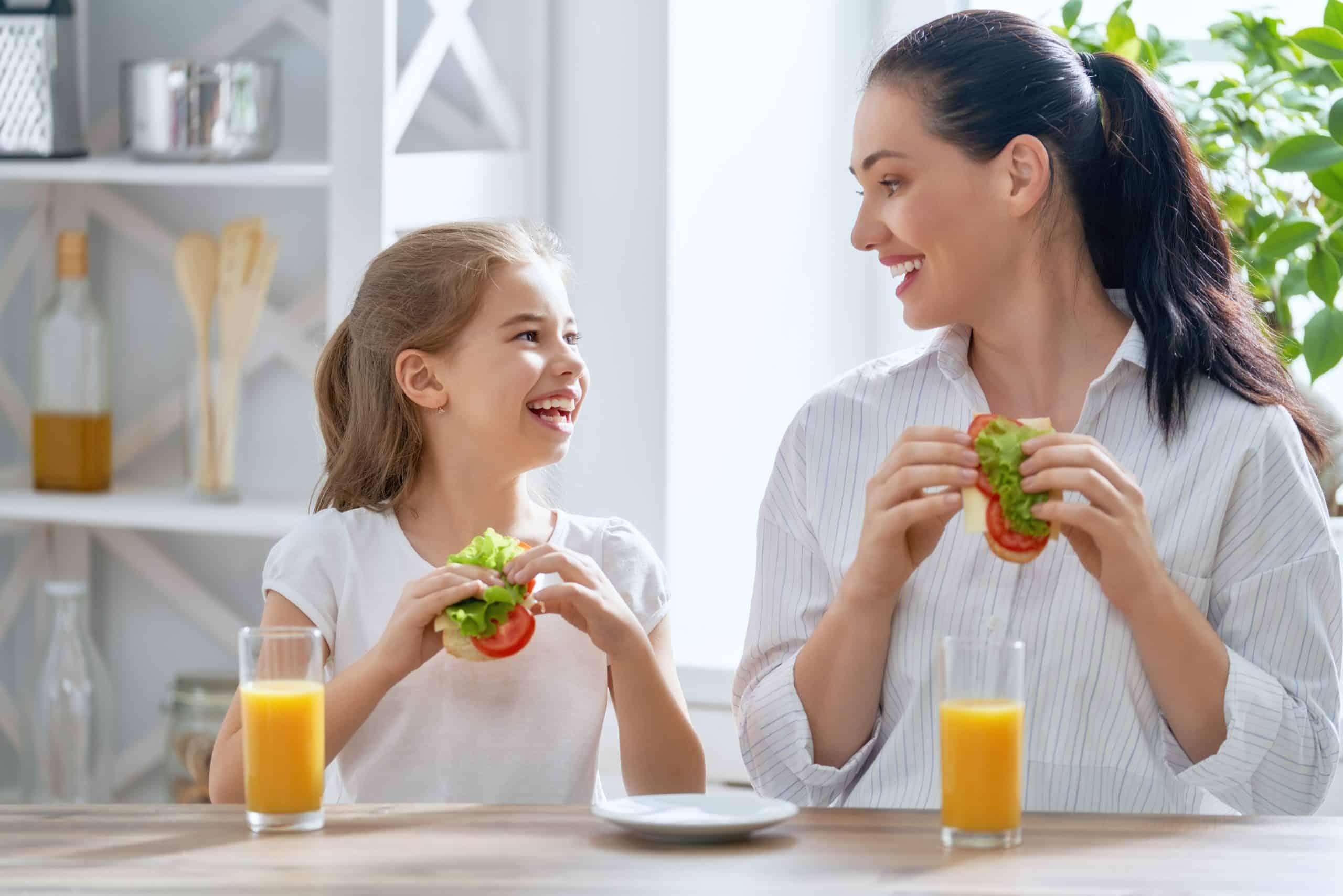 family health, healthy family happy family in kitchen