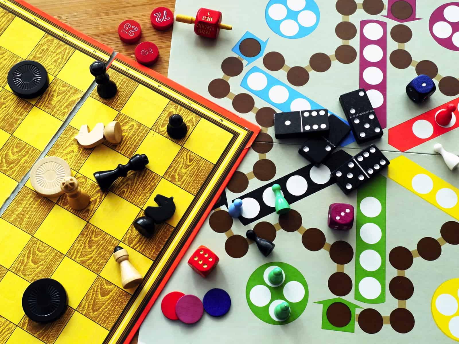Board games, screen-free activities