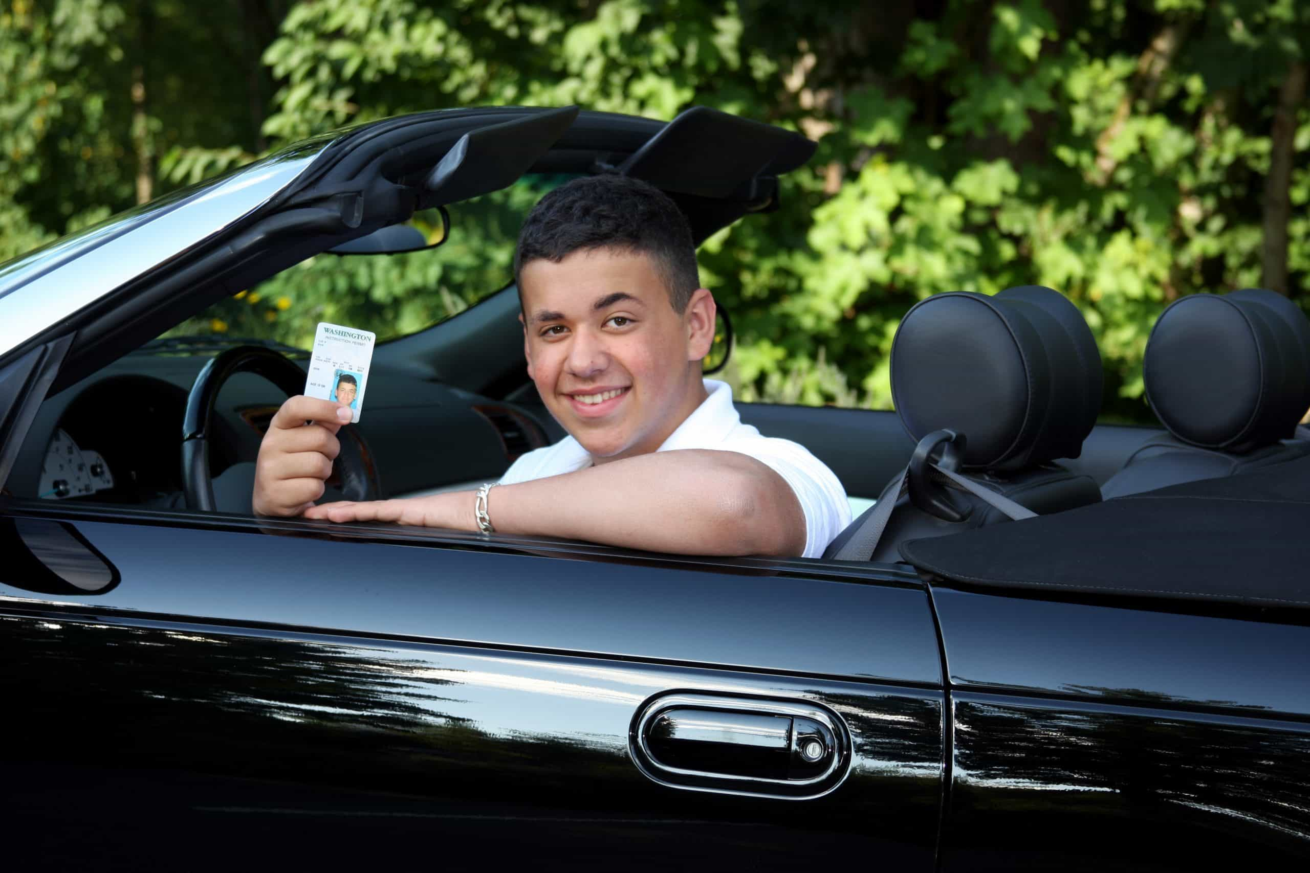 Teen with Driver's Permit
