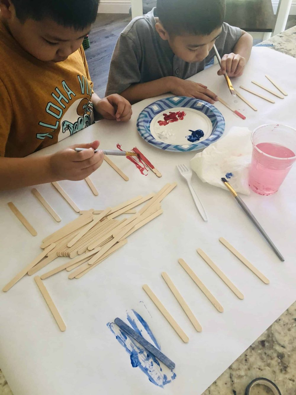 4th of july craft making