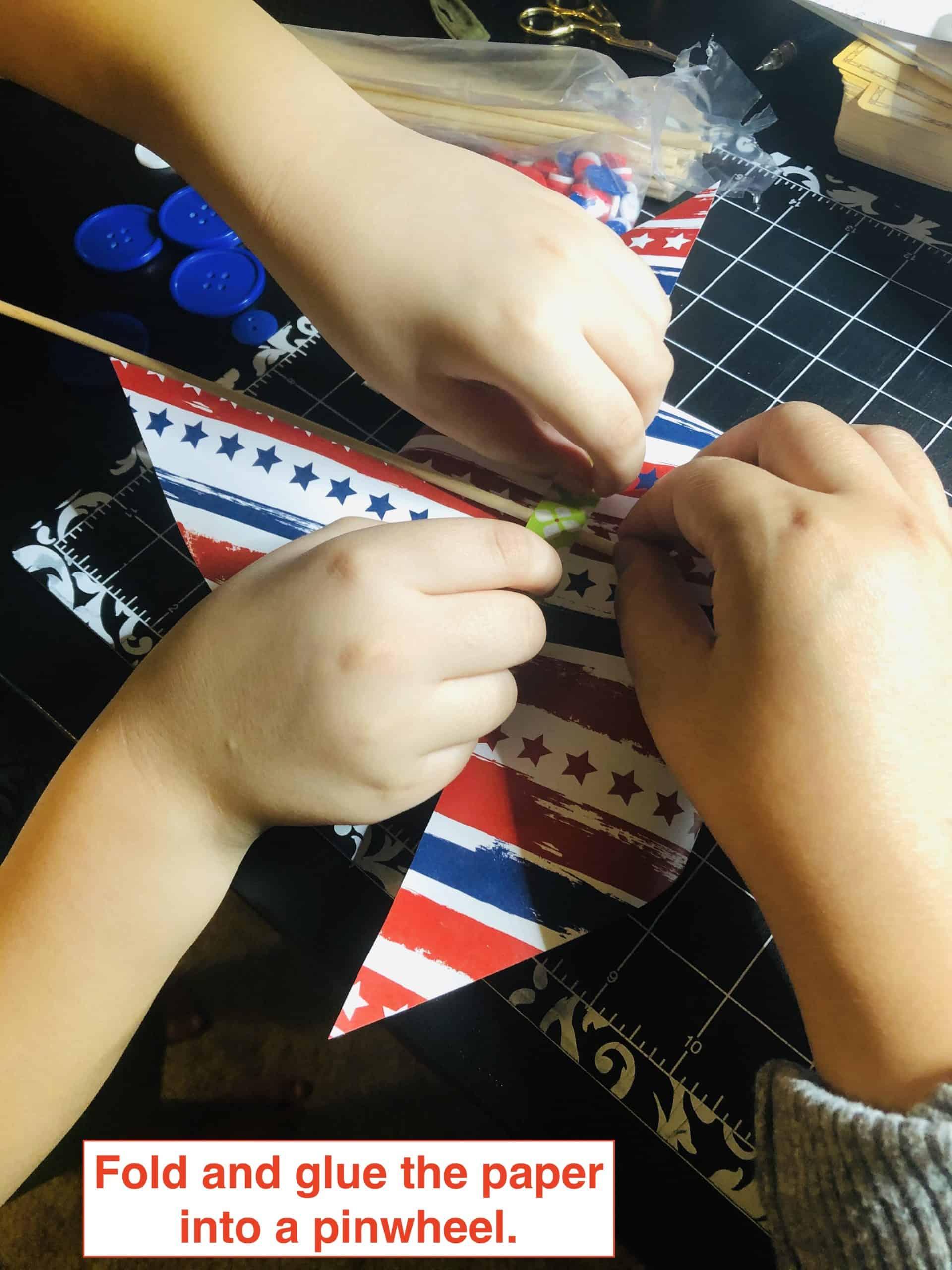 pinwheel 4th of july craft