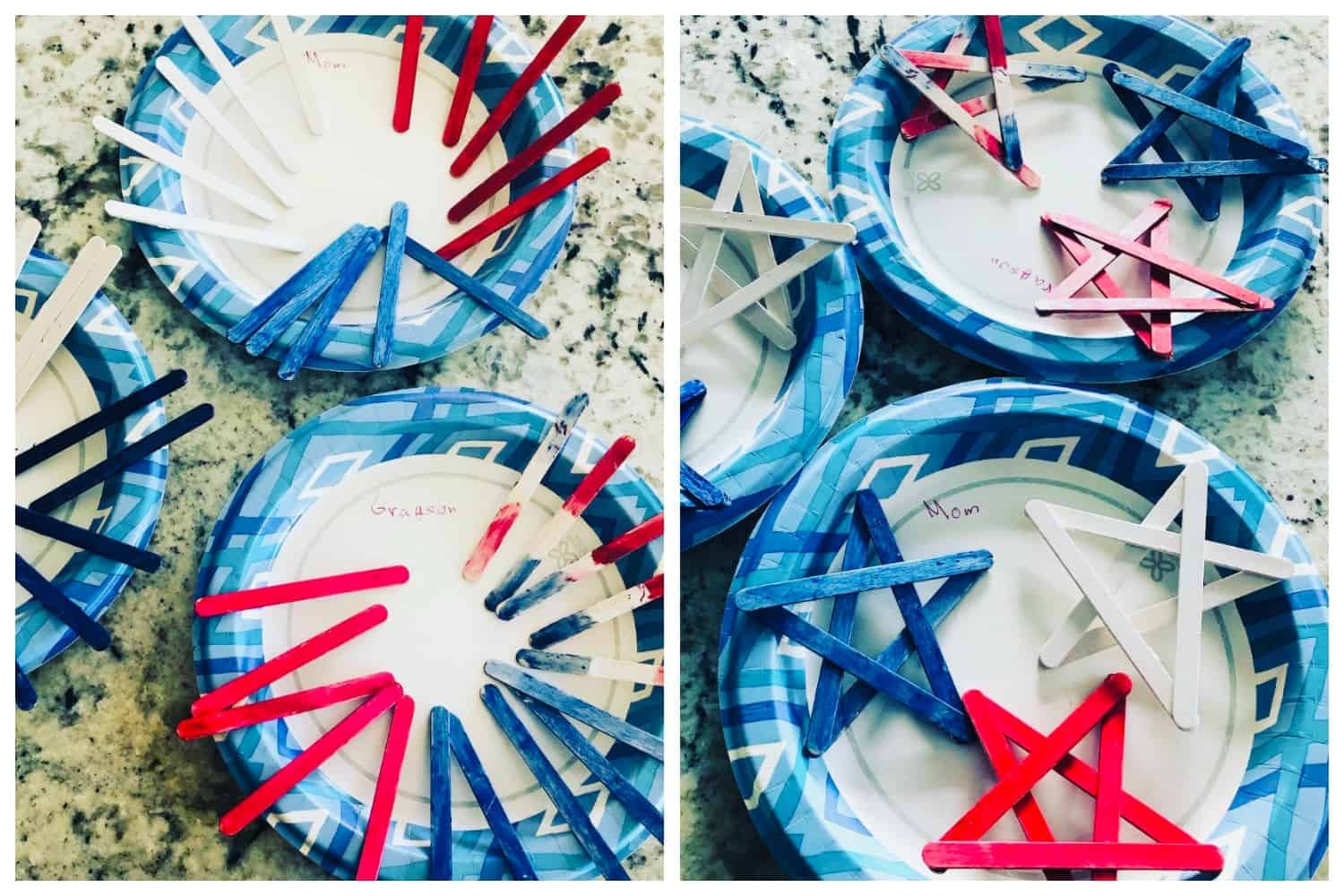 4th of july crafts, hanging stars