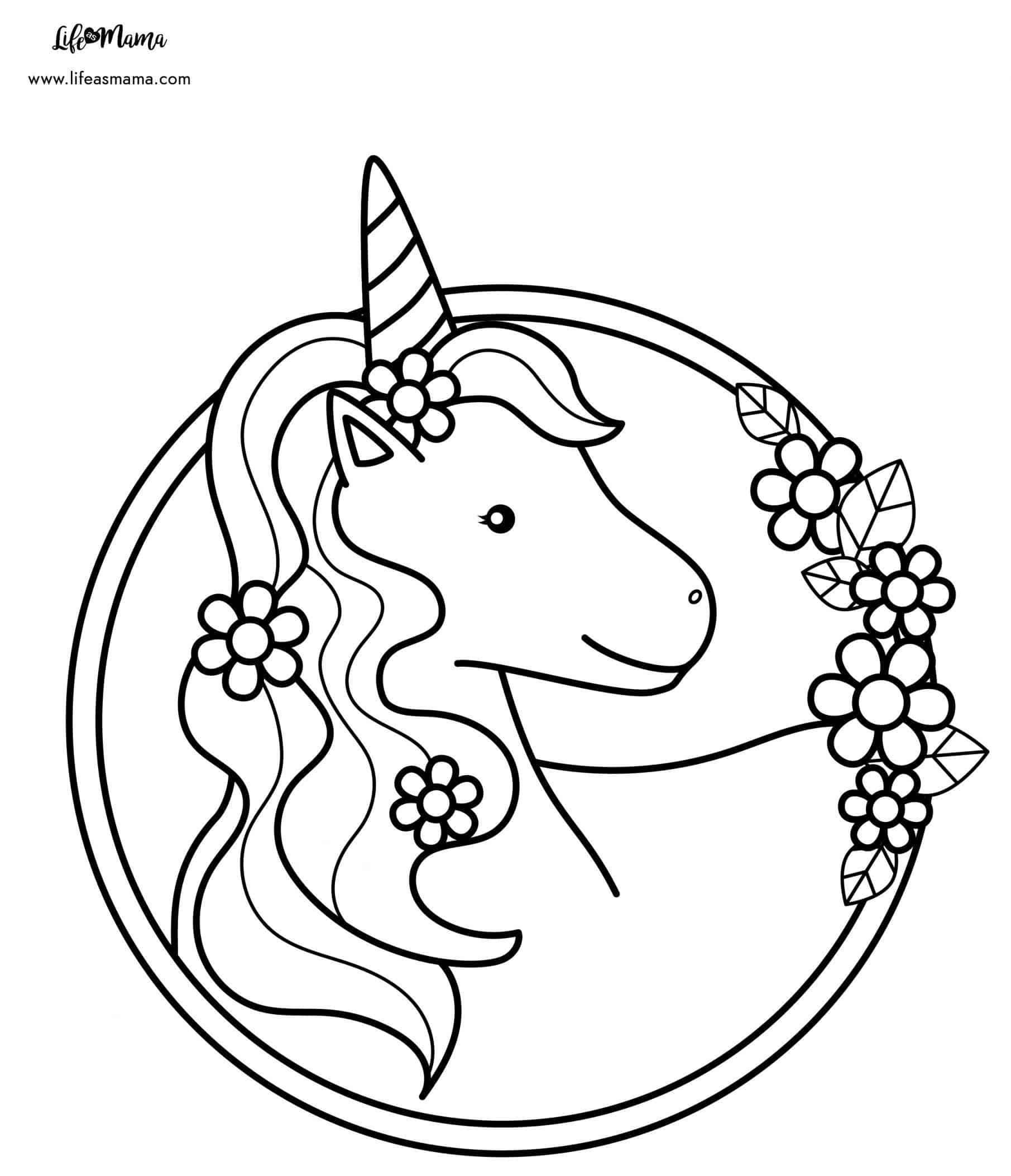 Unicorns Coloring Page-01