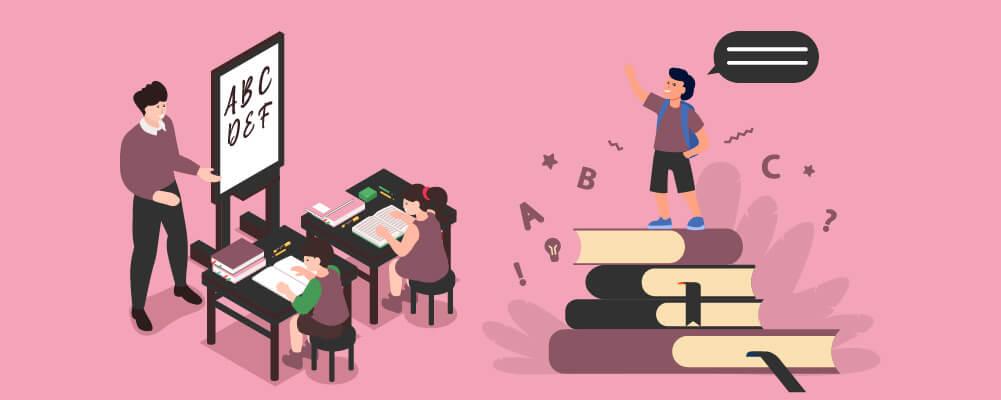 Children in school learning versus when you Homeschool Your Children