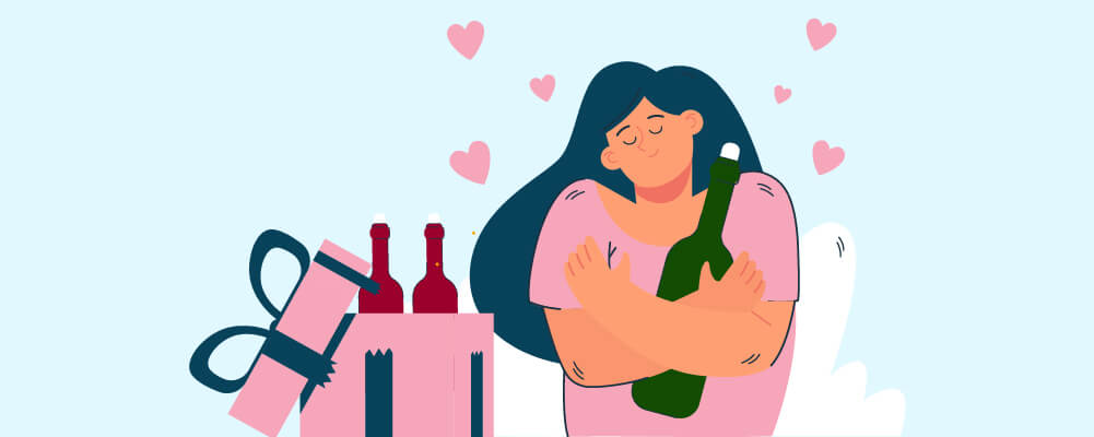 Mother grateful for being gifted a wine