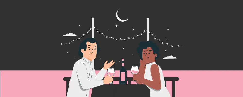 A couple on a date to help build a healthy relationship