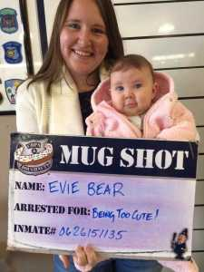 Get your mug shot at Cops and Doughnuts in Clare, MI