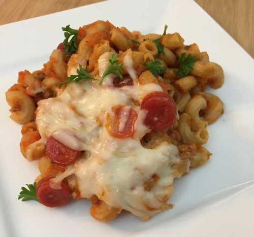 Pizza Mac with Ragu Homestyle Pasta Sauce