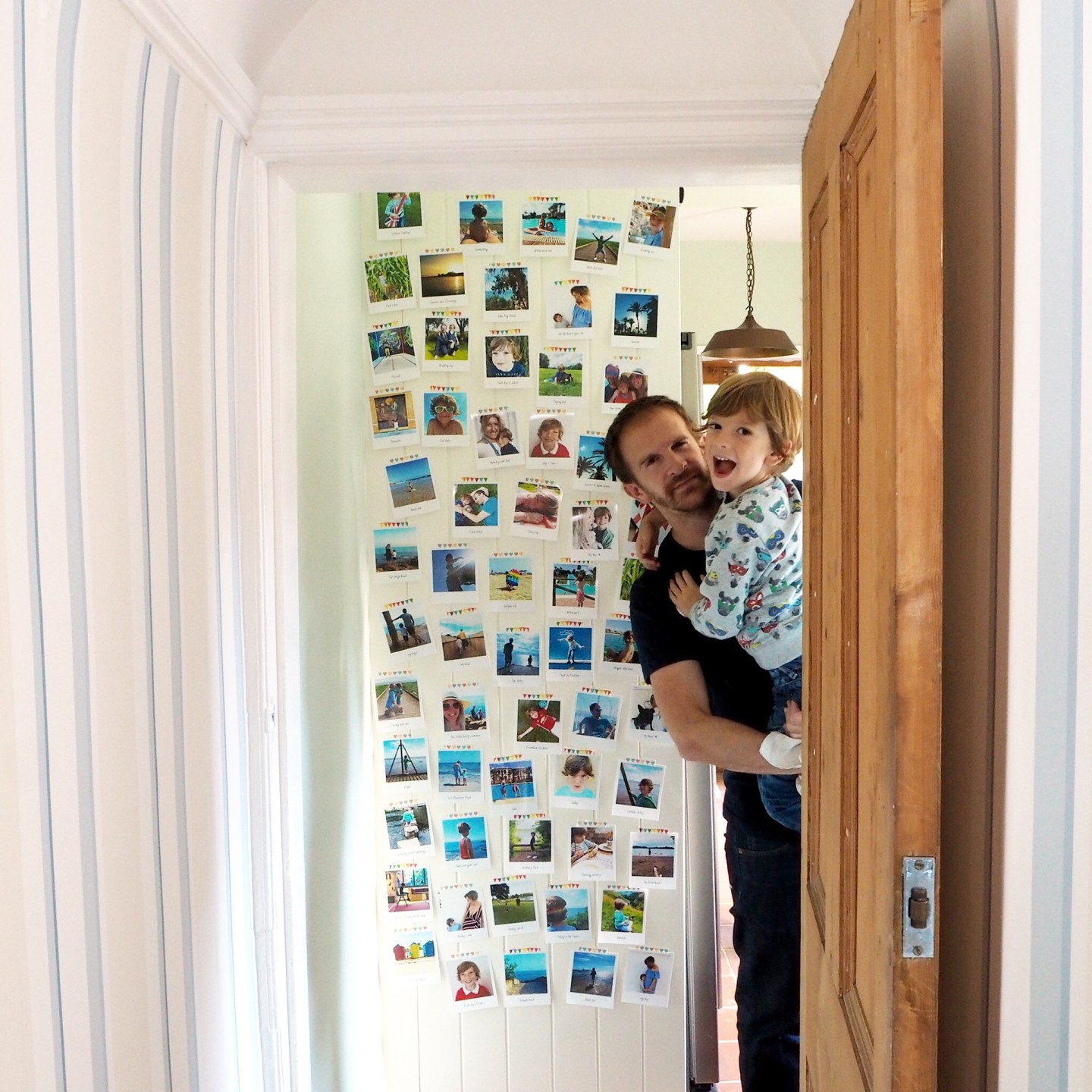 photo wall, life as our little family