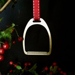 gold stirrup christmas decoration